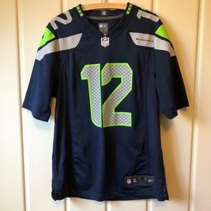 NFL OFFICIAL GAME JERSEY | Seahawks 12s Men sz S